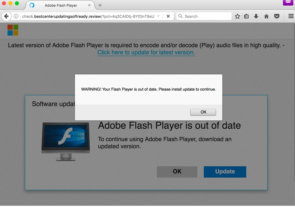 "Adobe Flash Player ""Out of Date"""